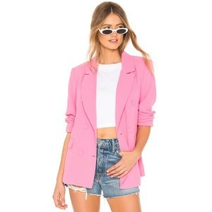 Lovers + Friends Noemi Blazer Barbie Pink